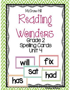 McGraw-Hill Wonders 2nd Grade Spelling Words Unit 4