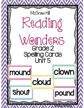 McGraw-Hill Wonders 2nd Grade Spelling Words Unit 5