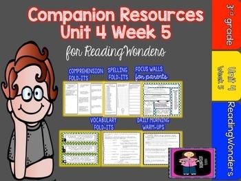 Reading Wonders Unit 4 Week 5 MegaPack for Grade 3