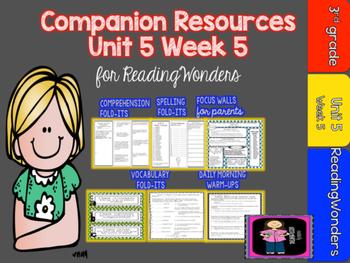 Reading Wonders Unit 5 Week 5 MegaPack for Grade 3