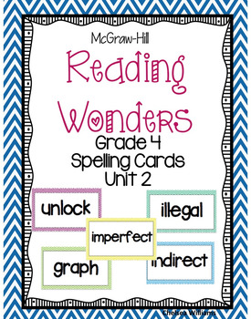 McGraw-Hill Wonders 4th Grade Spelling Words Unit 2