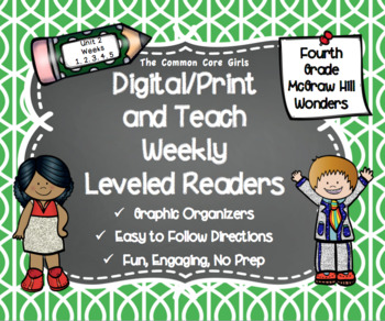McGraw Hill Wonders 4th Grade Unit 2 Print and Teach Level