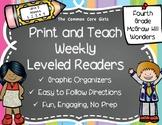McGraw Hill Wonders 4th Grade Unit 5 Print and Teach Level