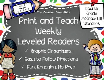 McGraw Hill Wonders 4th Grade Unit 6 Print and Teach Level