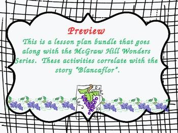 McGraw Hill Wonders, 5th - Blancaflor Vocabulary Bundle