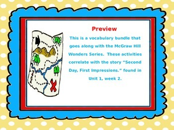 McGraw Hill Wonders, 5th - Second Day, First Impressions V