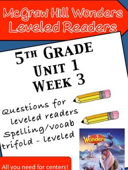 McGraw Hill Wonders 5th grade Unit 1 Wk 3