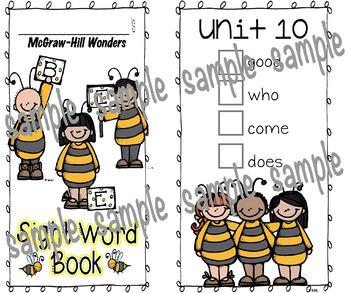 McGraw-Hill Wonders, BEE Sight Word Book