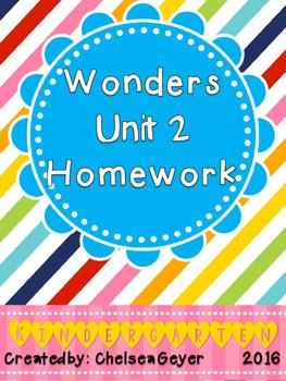 McGraw Hill - Wonders - EDITABLE Homework Packet - Unit 2