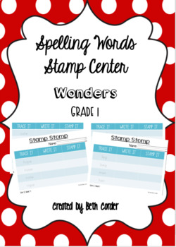 McGraw-Hill Reading Wonders 1st Grade Spelling Words Stamp