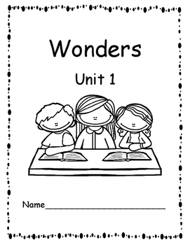 McGraw-Hill Wonders First Grade Unit 1 Reading Response/Journal