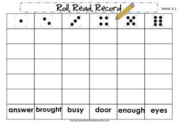 McGraw-Hill Wonders First Grade Unit Six Roll, Read, Record