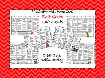 McGraw-Hill Wonders First Grade Unit Skills