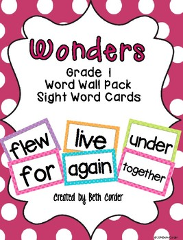 McGraw-Hill Reading Wonders Common Core 1st Grade Word Wal