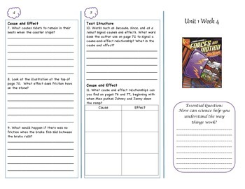 McGraw-Hill Wonders Forces and Motion Trifold