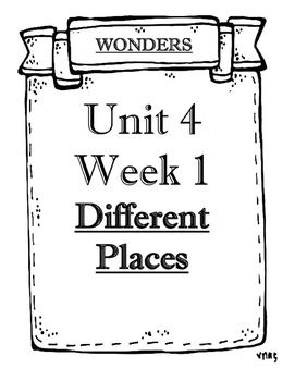 Wonders Grade 2 Objectives Unit 4 Weeks 1 to 5