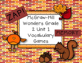 McGraw-Hill Wonders Grade 2 Unit 1 Vocabulary Games