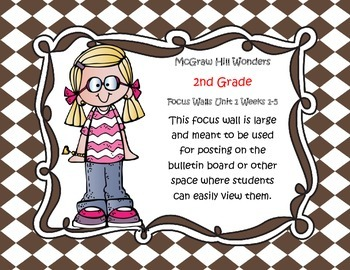 McGraw Hill Wonders Grade 2 Unit 1 Weeks 1-5  Bundle focus