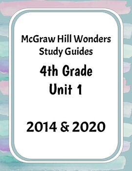 McGraw-Hill Wonders Grade 4 Unit 1 Study Guides
