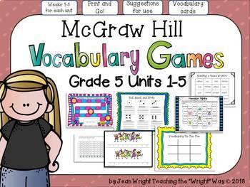 McGraw Hill Wonders Grade 5 Unit 3 Weeks 1-5 Bundle focus