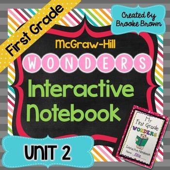 1st Grade Wonders INTERACTIVE NOTEBOOKS {UNIT 2}