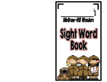 McGraw-Hill Wonders, Kindergarten Sight Word Book