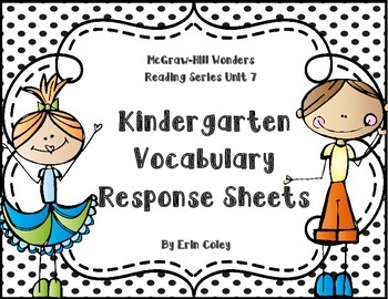 Wonders Kindergarten Vocabulary Response Unit 7: The Anima