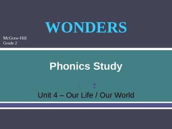 McGraw-Hill Wonders PHONICS STUDY BOARD - Grade 2:  Unit 4