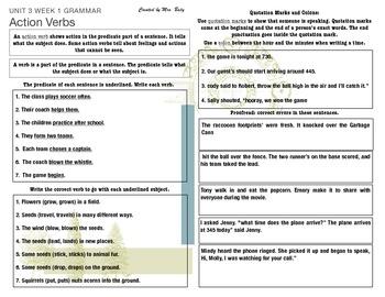 McGraw Hill Wonders Reading 3d Grade Unit 3 Grammar and Sp