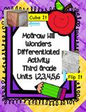 McGraw Hill Wonders 3rd Grade: Units 1-6 Printable Cube It