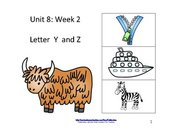 McGraw-Hill Wonders Reading Groups: Unit 8, Week 2:  Letters Y/Z