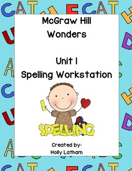McGraw Hill Wonders Spelling Workstation Unit 1