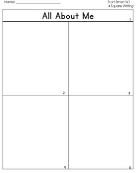 McGraw Hill Wonders 1st Grade  4square Writing templates S
