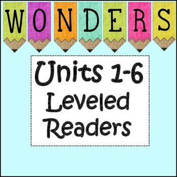 Third Grade Leveled Readers Units 1-6 Bundle