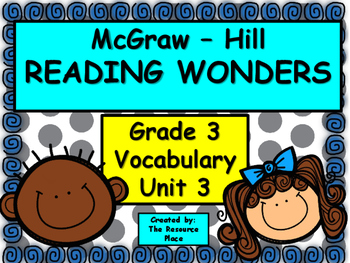 McGraw Hill Wonders Third Grade Unit 3 Vocabulary