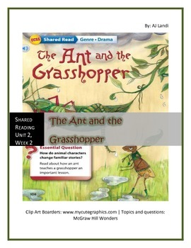 McGraw Hill Wonders UNIT 2, WEEK 2 Shared Reading The Ant