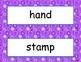 McGraw Hill Wonders Unit 1 Spelling - purple circles background