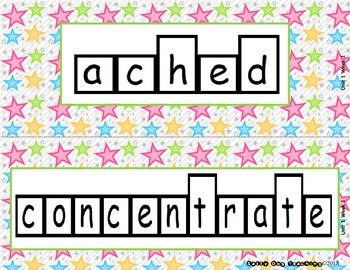 McGraw Hill Wonders Unit 1 Vocabulary Word Shape Cards Sta