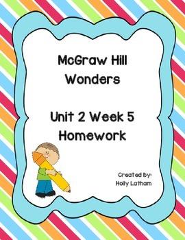 McGraw Hill Wonders Unit 2 Week 5 Homework