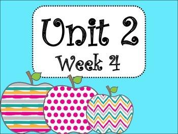 Unit 2/Week 4 (Third Grade)