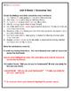 McGraw-Hill Wonders Unit 4 Grammar Test