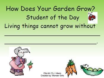 Kindergarten Wonders: Unit 5 Week 1- PowerPoint/Activities