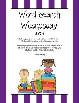 McGraw Hill Wonders Unit 6 High Frequency Word Searches, F