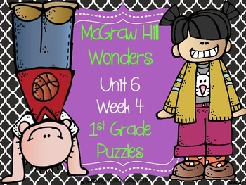 McGraw Hill Wonders Unit 6 Week 4 Puzzles