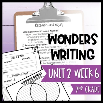 Wonders Writing and Grammar: 2nd Grade Unit 2 Week 6