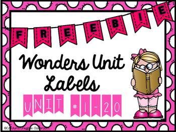 McGraw Hill Wonders Unit Labels