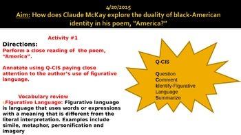 "McKay ""America"" Poem Lesson Plan"