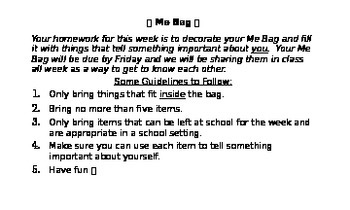 Me Bag Directions