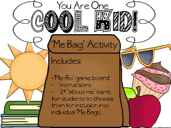 "Back to school: ""Me-Bo"" Me Bag Activity"