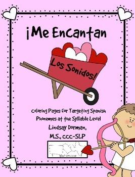 Me Encantan Los Sonidos: Coloring Pages for Spanish Phonem